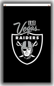 Las Vegas Raiders US Football Flag 90x150cm 3x5ft Memorable Best Black Banner