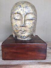 Antique Dynasty carved stone Buddha head