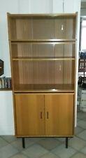 meuble bibliothèque années 60-70 placage chêne