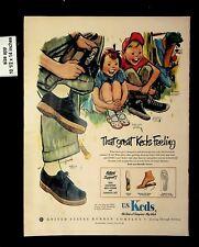 1950 Keds Feeling Shoes US Rubber CO Vintage Print ad 8949
