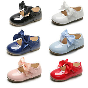 Infant Toddler Girls Bow-knot Princess Dress Shoes Party Wedding Christening