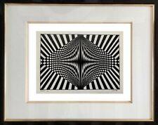 AUTHENTIQUE PEINTURE OP ART CINETIQUE EPOQUE 1970 SIGNEE LORETO  (60)