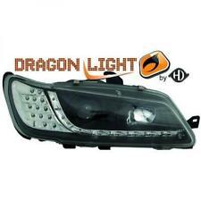 Scheinwerfer Set für Peugeot 306 97-00 Klarglas/Schwarz LED Dragon Lights