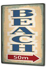Tin Sign XXL Fun Ravtive Beach metal plate plaque