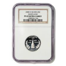 USA Maryland State Quarter 2000 S Silver Proof NGC PF 69 Ultra Cameo