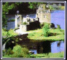 EILEAN DONAN CASTLE (DESIGN 1) - SCOTLAND ~ Counted Cross Stitch KIT #K1125