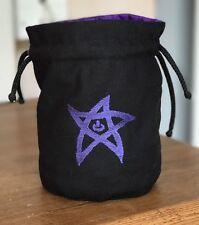 Cthulhu 'Elder Sign' Dice Bag in 'Purple'