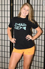 Dead Sea, Israel tourist travel souvenir t shirt - Black - Women's medium