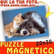 Puzzle Magnetico formato A4 20x30 personalizzato con foto Magnete - calamita Gat