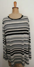 Sussan Viscose Striped Regular Size Tops & Blouses for Women