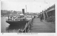 POSTCARD    DORSET   BOURNEMOUTH   The  New  Landing  Stage  Circa  1909  RP