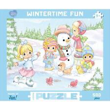 Precious Moments Wintertime Fun 500 Piece Puzzle