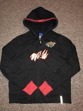 Reebok Minnesota Wild Fullzip Sweatshirt. Kids Medium