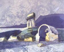 KLAUS DRECHSLER - Tempelruine - Ohne Titel - Farbalgrafie 1999