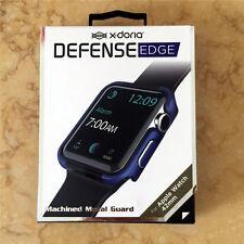 Original X-Doria 42mm Blue Apple Watch Case Defense Edge Premium Aluminum Bumper