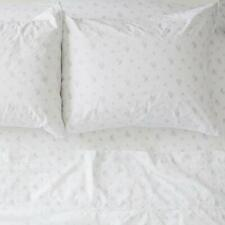 Rachel Ashwell Couture Petite Floral Blue Queen Sheet Set 4Pc. Cotton Poplin