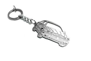 Stainless Steel Keychain Laser Cut Car Body Design Key Ring fit Jaguar X-Type