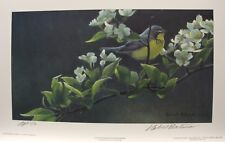 Robert BATEMAN Canada Warbler & Pear Blossoms LTD art print #3 Artist Proof