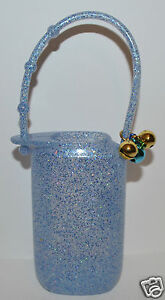 Bath & Body Works Blau Glitter Jingle Glocken Lotion Reise Halter Arm Träger