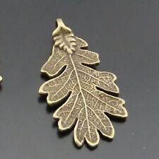 Antiqued Bronze Tone Vintage Alloy Large Daisy Leaf Pandent Charms 10pcs 01329