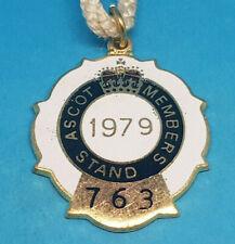 Ascot Horse Racing Members Badge - 1979