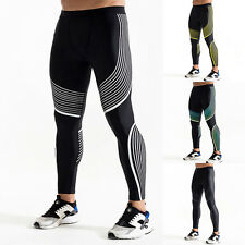 Mens Gym Thermal Tight Compression Base Layer Pants Work Out Leggings Trousers