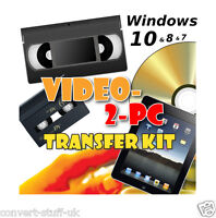 Copy / Convert / Transfer VHS Video & Camcorder Tapes to Windows 10, 8, 7 & DVD