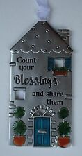 ddd Count Your blessings and share them NO PLACE LIKE HOME House ornament Ganz