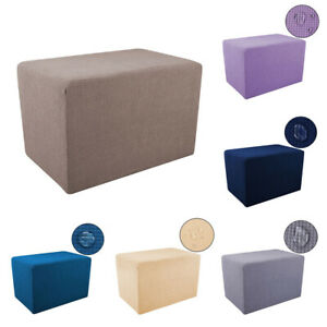 Rectangle Stretch Ottoman Cover Footstool Slipcover Sofa Foot Rest Protector New