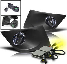 LOWER BUMPER FOG LIGHT LAMP CHROME+HARNESS+3000K HID SET FOR 2007-2011 VERSA NEW