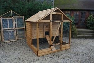 Blenheim Poultry Hen Coop House Deluxe Range Up 12 Hens - British Built