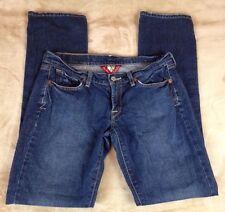 Lucky Brand Women's Hipster Low Rise Dark Wash Denim Jeans Size 4 Straight Leg