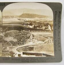 Stereoview Keystone V12777 Scotland Wallace Monument Stirling Castle Scotland O