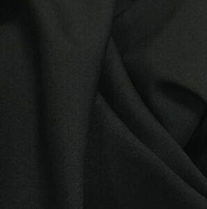Plain Coloured 147cm wide Bi Stretch Polyester Fabric Suit Dress Making Venue