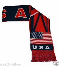 USA scarf Patriotic American Flag Scarf soccer national team UNITED STATES