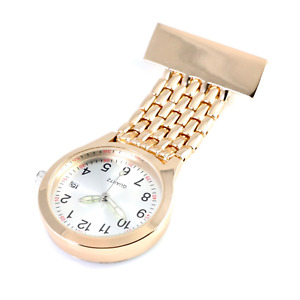 Unisex Wide Band ROSE GOLD Nurses Watch with Date Function Graduation Pack