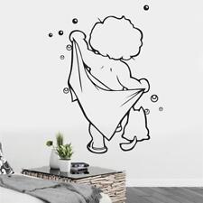 Sticker mural fait main de la salle de bain Imperméable amovible