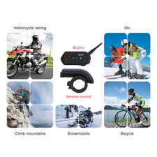 1200m E6 Plus Motorcycle Intercom with Wireless Remote Control Bluetooth Headset