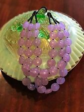 Three Strand Resin Summer necklace Cool Lilac / Purple Polished