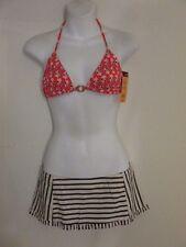 Tory Burch Kerala Orange Hamadri Swim Traingle Ring Bikini Top XS NWT $95