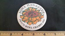 PEACH BOWL CHAMPS Iowa Hawkeyes 1982 pinback button pin
