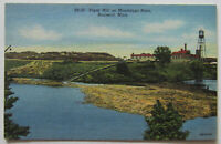 Brainerd Paper Mill Mississippi River 1946 Postcard Minnesota (f663)
