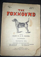 The Foxhound, 1910 Volume 1, No. 1, Fox Hunting Sporting Jnll, Hound Dog Breeds