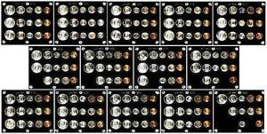 GORGEOUS COLLECTION OF 16 DIFFERENT GEM 1940 - 1955 P,D&S U.S. SILVER MINT SETS!