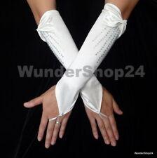 Brauthandschuhe zum Hochzeit  Abendkleid Fingerlos Creme / hellbeige  Neu