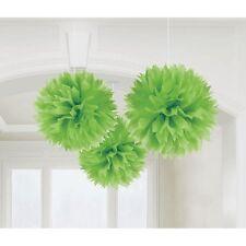 FLUFFY Kiwi Green Tissue Poms Wedding Decoration