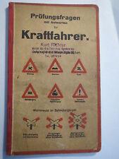 Prüfungsfragen mit Antworten für Kraftfahrer - Deutsches Reich - Führer