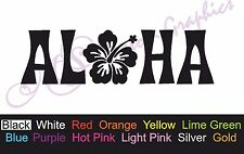 ** ** Autocollant Voiture Aloha, vinyle, Drift autocollant, hawiian, fleur, Surf