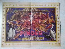 Affiche collection cirque Pinder plus beau chapiteau du monde animaux rares