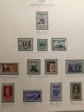 P001050/REPUBBLICA ITALIANA/1952/SASSONE#698/705/NEW / NEUFS * / MH€23